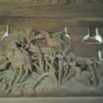 本堂の回廊の彫刻